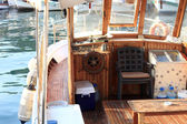 Interior of boat — Foto Stock