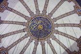 Cúpula principal detalhes da mesquita azul — Fotografia Stock