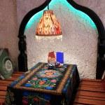 Interior of uzbek cafe — Stock Photo #59109049