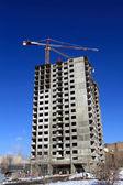 Apartment building under construction — Stock Photo