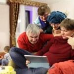 Family calling through tablet PC — Stock Photo #61921043