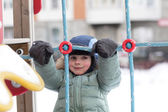Child at winter playground — Foto de Stock