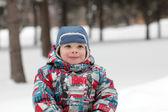 在冬季公园儿童 — 图库照片