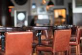 Interior view  of a restaurant — Foto Stock