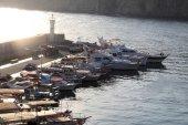 Landscape of marina — Stock Photo