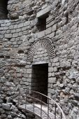 Interior details of tower Yedikule Fortress — Stock Photo