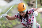 Person in adventure park — 图库照片