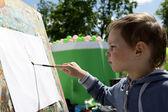 儿童画颜料 — 图库照片