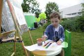子供絵画塗料 — ストック写真