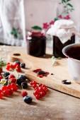Berries jam — Stock fotografie