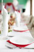 Catering table — Stock Photo