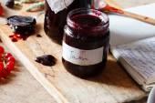 Berries jam — Stock Photo