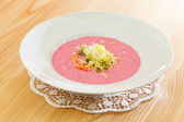 Cold beetroot soup — Stock Photo