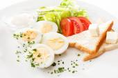 Breakfast  on plate — Stock Photo