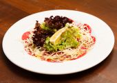Carpaccio with cheese — Stockfoto