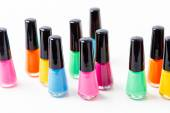 Nail polish bottles — Stock Photo