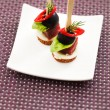 Canape with sticks — Stock Photo #54308123