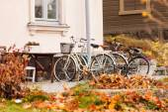 Bikes near house — Stock Photo
