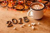 2015 New Year greeting card — Stock Photo