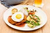 Wiener Schnitzel with Potatoes — Stock Photo