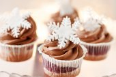 Cupcakes de natal — Foto Stock