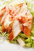 Salad with smoked eel — Stock Photo