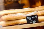 Baguettes in bakery — Stock fotografie