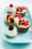Berries tarts — Stockfoto