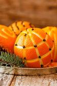 Christmas oranges — Stock Photo