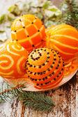 Vánoční pomeranče — Stock fotografie