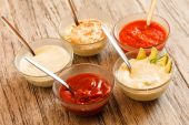 Different sauces — Stock Photo