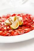 Strawberry carpaccio — Stockfoto