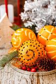 Naranjas de navidad — Foto de Stock