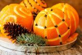 Weihnachten-orangen — Stockfoto