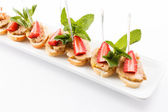 Appetizer with strawberry — Stockfoto