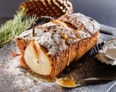 Winter pear cake — Stockfoto