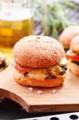 Domowe hamburgery — Zdjęcie stockowe