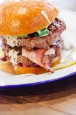 Tasty burger — Stock Photo