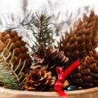 Christmas decoration with cones — Stock Photo #58982269