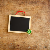 Wooden frame with bow — Foto Stock