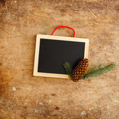 Wooden frame with cone — Foto Stock