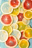Different citrus slices — Foto Stock
