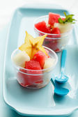 Fruit salad in bowls — Stock Photo
