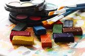 Colorful watercolor paints — Stock Photo