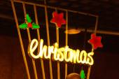 Christmas decoration backdrop — Stock Photo