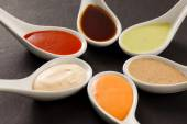 Different kinds of sauce — Stock Photo