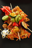 Vegetable kebab with japanese omelette — Stock Photo