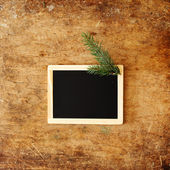 Frame with pine branc — Foto Stock