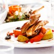 Grilled Quail with salad — Stock Photo #59914697