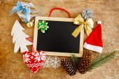 Frame and christmas decorations — Foto de Stock